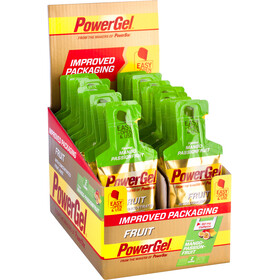 PowerBar New PowerGel Fruit Energitillskott Mango Passion med Koffein 24 x 41g